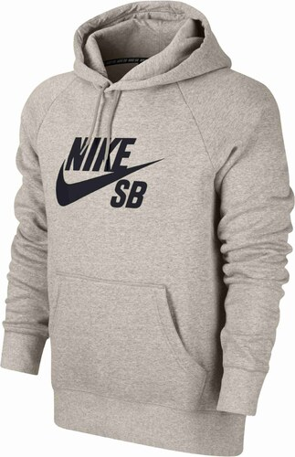 d2b01be4252 Pánská mikina Nike SB ICON PO HOODIE OATMEAL HEATHER BLACK - Glami.cz