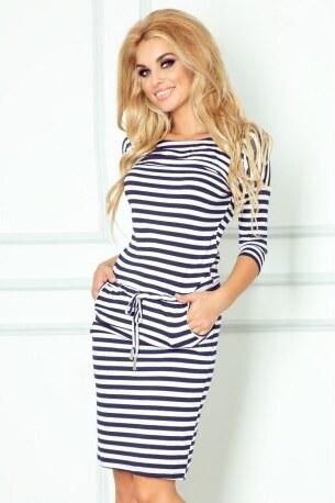 Dámské sportovní šaty v námořnické stylu 1334 tmavě modré s bílou NUMOCO 13 -34 135bcee012