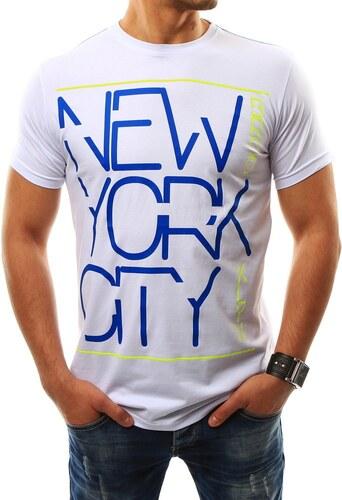 Moderní elegantní pánské tričko NEW YORK CITY bílé - Glami.cz 40b78c0fde