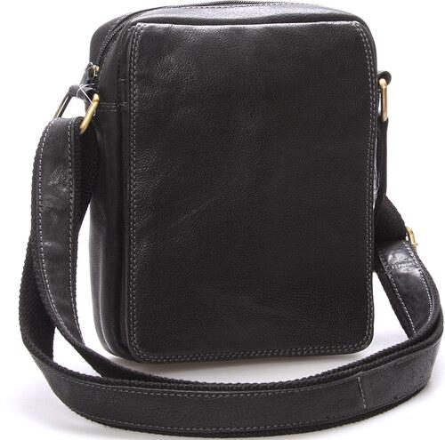 Pánska kožená taška na doklady cez rameno čierna - SendiDesign Didier čierna ef40e627752