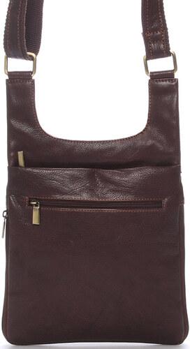 Moderná pánska kožená taška cez rameno hnedá - SendiDesign Leverett hnedá d065c50dfd4