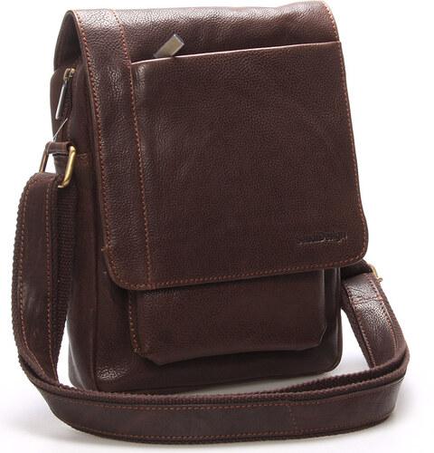 Originálna pánska kožená taška cez rameno hnedá - SendiDesign Lenard hnedá 2ebc1babf7f
