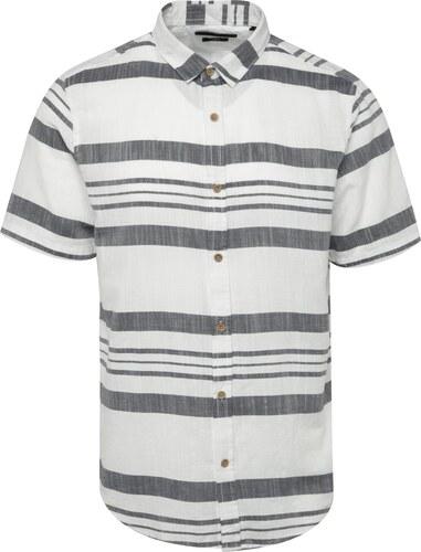 ee4839a6bf98 Sivo-biela pruhovaná košeľa ONLY   SONS Constantin - Glami.sk