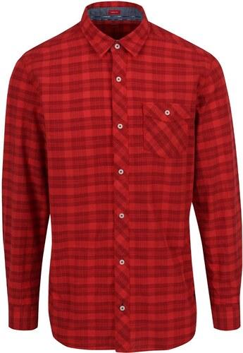 Červená kostkovaná pánská košile s kapsou s.Oliver - Glami.cz 5ff0466ee4