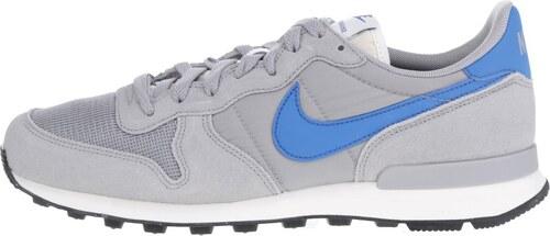 Sivé pánske tenisky so semišovými detailmi Nike Internationalist ... 70b95da4a8e