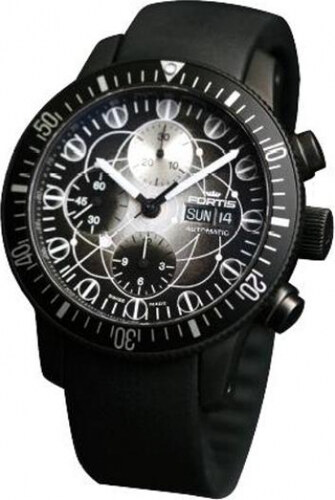 3e427752f78 Fortis 638-28-17-K B-42 Official Cosmonauts Winner Black Limited Edition