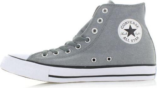Converse Pánské tmavě šedé vysoké tenisky Chuck Taylor All Star Chambray Hi 8e3653205ff