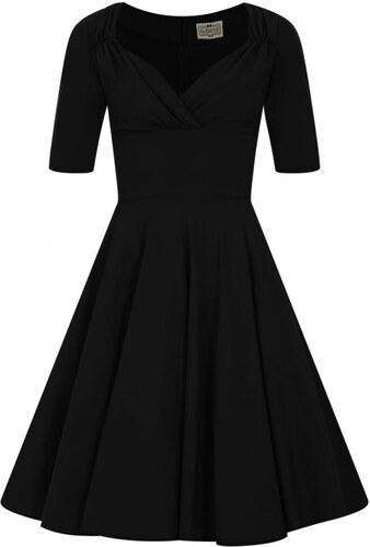 COLLECTIF Dámské retro šaty Trixie Doll černé 9597bc93cb