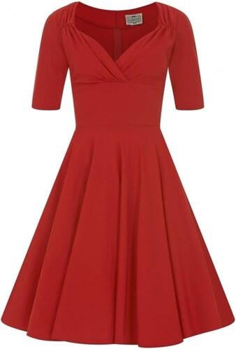 COLLECTIF Dámské retro šaty Trixie Doll červené b26a968015