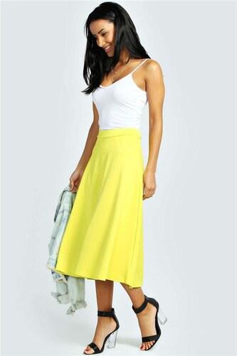 ff0eefc195ef BOOHOO Žltá sukňa Arianna - Glami.sk