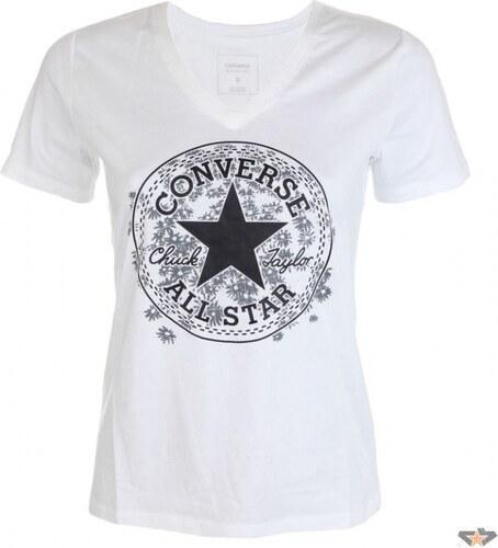 Dámske tričko Converse Daisy CP Vneck Tee Biela - Glami.cz 504303b37d