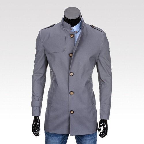 Ombre Clothing Pánský podzimní kabát k obleku Eliot šedý - Glami.cz da02d4ce9a