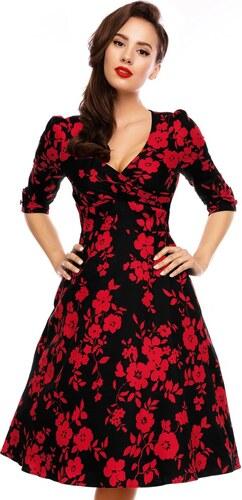 Dolly and Dotty retro šaty Katherine černé s květy - Glami.cz f0b8bfb7c9