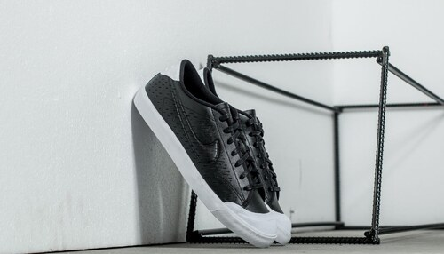 Nike All Court 2 Low Leather Black  Black-White - Glami.sk cc5df491e3e