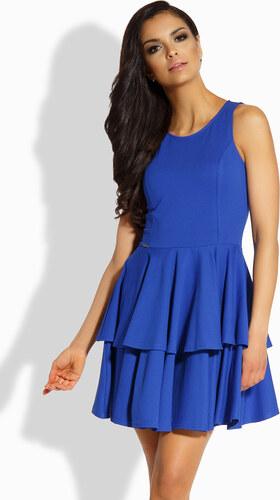 bff53fabf9d1 Lemoniade Modré volánikové šaty L199 - Glami.sk