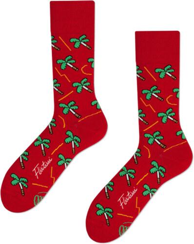 Many Mornings Červené ponožky Palms on Fire - Glami.cz e651853f3f