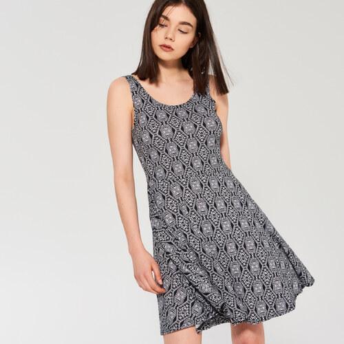 973b89fda5 Sinsay - Šaty s výstrihom na chrbte - Strieborná - Glami.sk