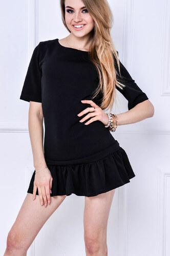 Čierne šaty s volánikmi - 83926 odtiene farieb  čierna - Glami.sk 5836729b1b2
