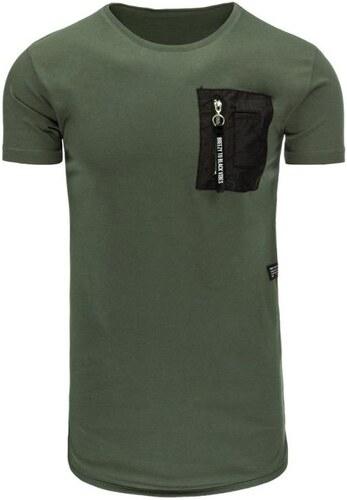 d4566eebc3b3 Manstyle Pánské tričko bez potlače zelené - Glami.sk