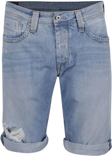 Světle modré pánské džínové kraťasy Pepe Jeans Cash - Glami.cz b88ef50545