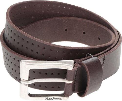 Hnědý pánský kožený pásek Pepe Jeans Lewin - Glami.cz e5ea36c006