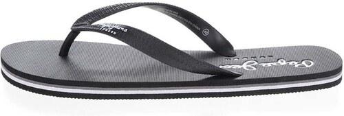 Černé pánské žabky s nápisem Pepe Jeans Swimming - Glami.cz 9b5f531937