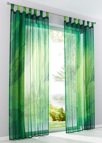 bpc living bonprix voilage feuillage 1 pce vert pour maison. Black Bedroom Furniture Sets. Home Design Ideas