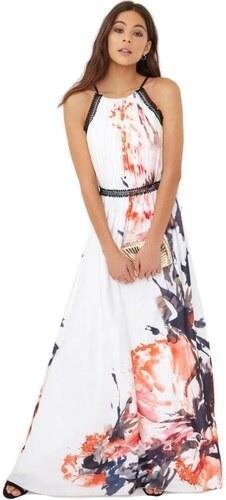 LITTLE MISTRESS Prekrásne maxi šaty s abstraktným potlačou - Glami.sk 13fc40b1b74