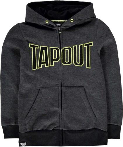 Dětská mikina Tapout Logo Zip Hoody šedá - Glami.cz 2a6d91995c