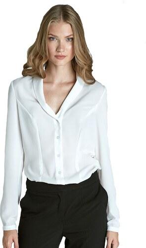 Dámská bílá košile s decentním výstřihem NIFE Barva  bílá - Glami.cz e4fd023f55