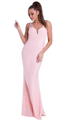 e511c0db9893 Your New Style Dámské šaty večerní s ozdobnou zadní částí barva  růžová