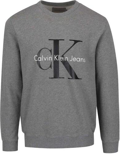 Šedá pánská mikina s potiskem Calvin Klein Jeans