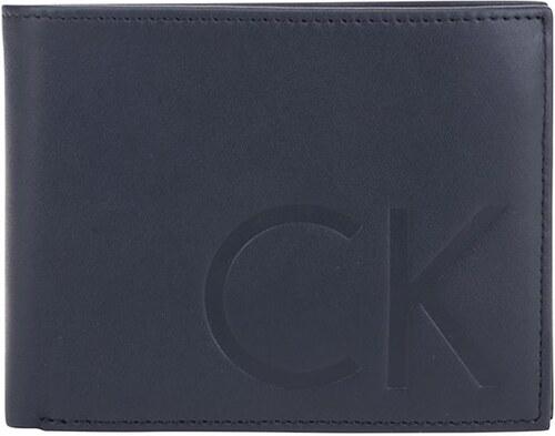 Tmavomodrá kožená peňaženka Calvin Klein Jeans - Glami.sk fe6bcf18c5f
