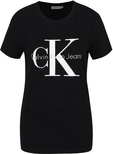 Černé dámské tričko s potiskem Calvin Klein Jeans Shrunken - Glami.cz f4932bdbee