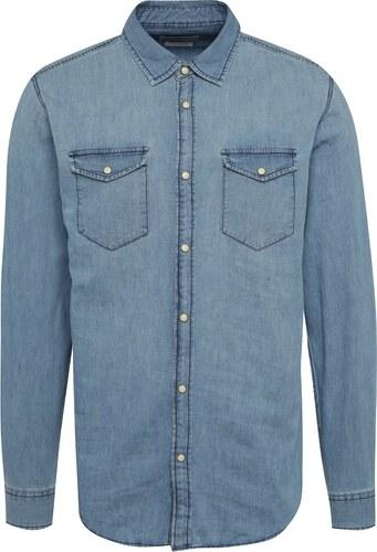 579617831c Svetlomodrá rifľová slim fit košeľa Jack   Jones One - Glami.sk