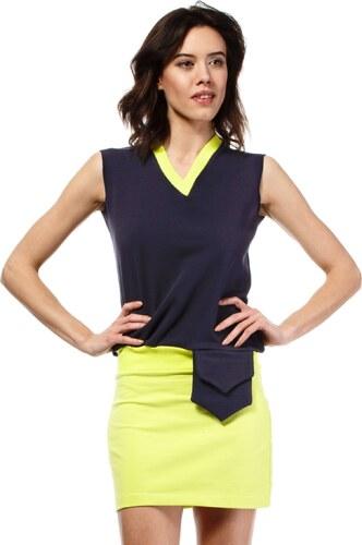 Letní šaty mini značkové BeWear bez rukávu krátké tmavě modré - Glami.cz 549efcb9fd