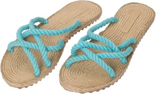 cb72c74456e2 foldbl Dámske plážové sandále F6 TURQOUISE - Glami.sk