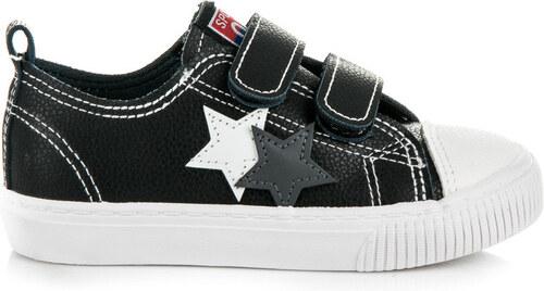 Luxusné čierne detské tenisky s hviezdičkami - Glami.sk 5633dc9698e