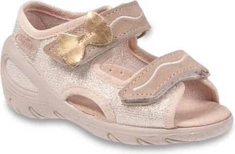 7a4365d77208 Befado Dievčenské sandále Sunny - zlaté - Glami.sk