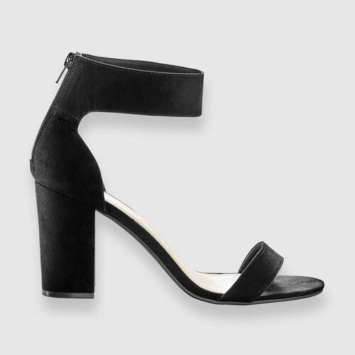 Blancheporte Semišové sandály na podpatku černá - Glami.cz 9f2b4220b5