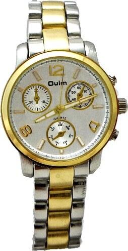 26b4559272d Dámské stříbrno-zlaté hodinky OULM Quartz Silver 295D - Glami.cz