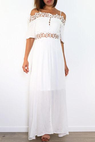 3f4030236dc JOWELL Dlouhé letní šaty BETSY WHITE Barva  Bílá