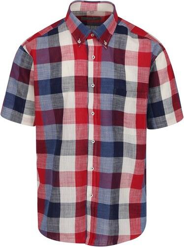 Modro-červená kostkovaná neformální košile Seven Seas - Glami.cz 35ac6823b6