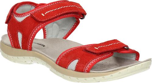 3b619e71e0da Weinbrenner Červené kožené dámske sandále - Glami.sk