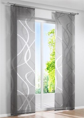 bpc living bonprix panneau coulissant bruges 1 pce gris pour maison. Black Bedroom Furniture Sets. Home Design Ideas