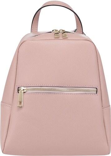 Růžový dámský kožený batoh ZOOT - Glami.cz d69392051eb