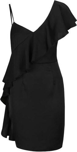 677d925c592 Černé asymetrické pouzdrové šaty s volánem Miss Selfridge - Glami.cz