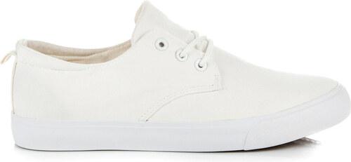 Neznámý výrobce Nádherné biele pánske tenisky na šnurovanie - Glami.sk dc04cce281e