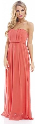 92d16947efea TFNC Koralové dlhé šifónové šaty - Glami.sk