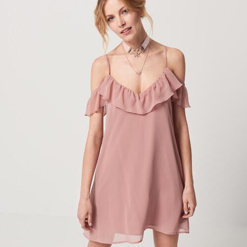 Mohito - Púdrové šifónové šaty - Ružová - Glami.sk caf60f8a82f